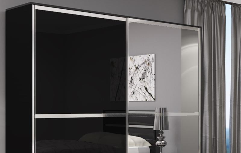 Zwarte slaapkamerkast - Kledingkast ideeen ...