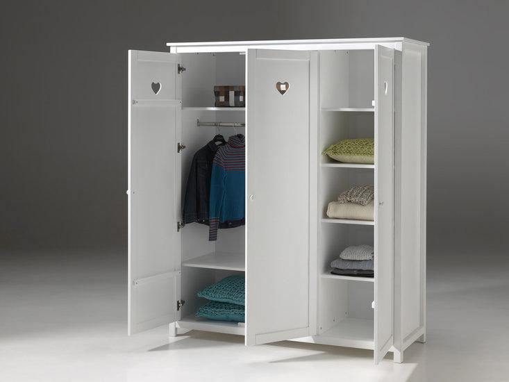 romantische meisjeskamer 3 deurs kledingkast  Meram Meubelen