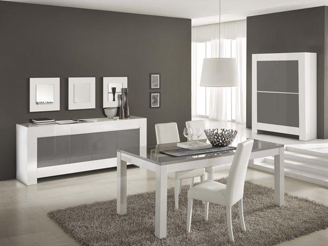 Eetkamer combinatie tianca grijs wit meram meubelen - Eetkamer en woonkamer ...